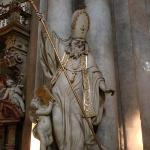 Statues of the Church Fathers, Church of St. Nicholas, Lesser Town Square