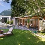 Hotel Garden with salt water Jacuzzi & Pergola