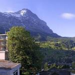 Hotel Belvedere Grindelwald with famous Eiger in the back