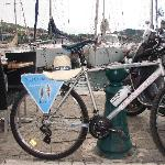 Bicycle in port