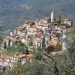The nearby town of Apricale