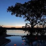 pool sunset bar