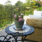 Breakfast on sunny verandah