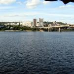 City of Saratov- Dock Area from Boat on Volga River