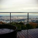 our AMAZING view with our private in-suite hotspring!