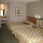 the room- 2 queen beds