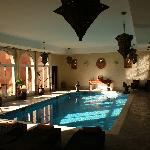 The beautiful indoor pool at dawn