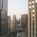 View from room of Chicago River towards Michigan Ave.
