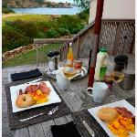 The breakfast delivered to the deck - and the view!