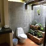 The semi-outdoor bathroom