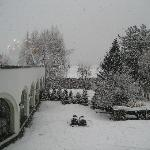 Courtyard in the snow