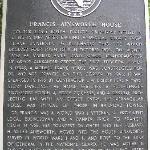 plaque out front