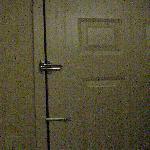 The water marks inside the exterior door