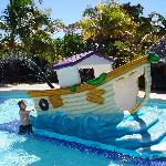 great kids pool with various fun slides, located right beside the kids club in the Reserve