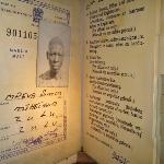 Inside the Kwa Muhle Museum - giant pass book replica