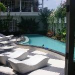 The beautiful court yard with pool