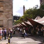 View of the market  which is outside the Mercantile every Saturday and Sunday