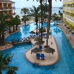 piscina desde la suite