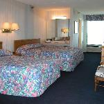 "Spacious accommodations with private balcony and new 26"" Samsung LCD television"