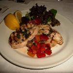 Main of grilled swordfish