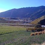 view down the Gibbston Valley from my patio
