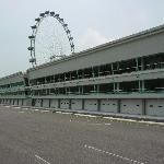 View of F1 pits and Flyer