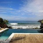view to the sea with pool