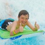 2 thumbs up, water park