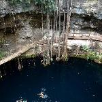 The cenote at Ek Balam