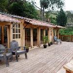 Yoga studio and deck overlooking the paramo
