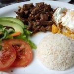 Llapingachos and steak!