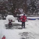 Snow-blower fail.