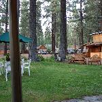 Central Lawn and parking area at Holly's Place, South Lake Tahoe, CA