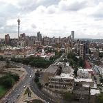View of Hillbrow, Johannesburg from hotel rooftop