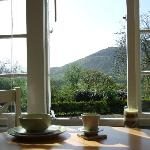 Have breakfast overlooking Moel Y Gest, in the tranquility of our sun room