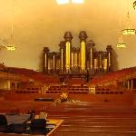 Inside the tabernacle.