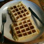 Free waffles in the morning