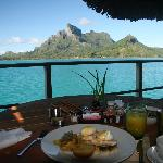 Four Seasons Bora Bora Breakfast in Overwater Bungalow