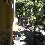 La vista desde la terraza de la habitación