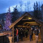 The covered bridge in Vail Village