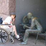 My Grandma posing at the FDR memorial in DC in 2005, I think. She was always up for fun pictures