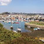 newlyn fishing port  five minutes away