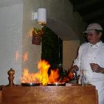 Flambe' night @ the restaurant