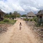 My daughter running to the beach