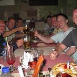 En middag på Agalma tillsammans med vänner från Rhodos.