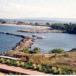 Platja del Cangrejo la marina des de l'hotel Punta Palma, Puerto La Cruz, Venezuela, 11-1994