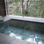 部屋付きのお風呂から観る伊豆の自然