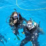45 ft. deep ocean water!  Looks clear as a pool doesn't it?