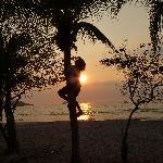Playa Hermos monkey man at sunset