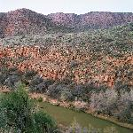 The Verde River as seen from Verde Canyon Railroad